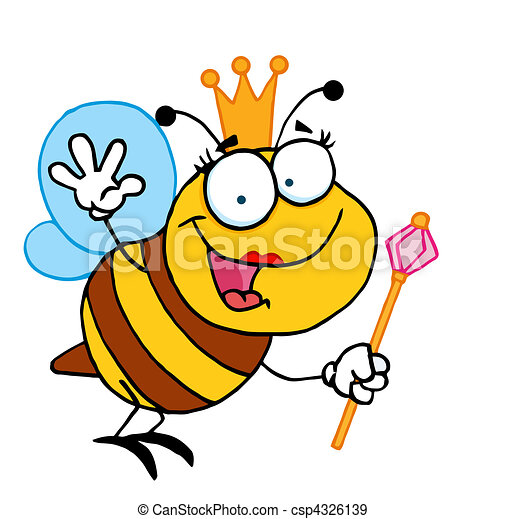 friendly queen bee cute bee cartoon character eps vectors search rh canstockphoto com cute queen bee clipart cute queen bee clipart