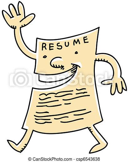 friendly resume a friendly cartoon resume stock illustration rh canstockphoto com