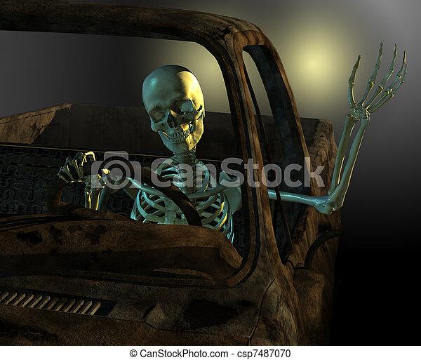 Friendly Skeleton Driver - csp7487070