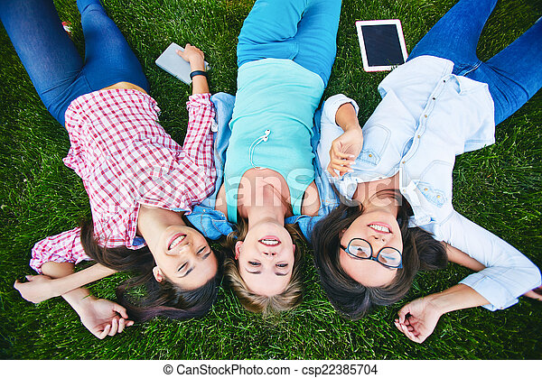 Three teens receive friendly