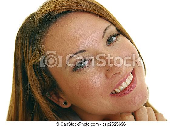 Friendly woman - csp2525636