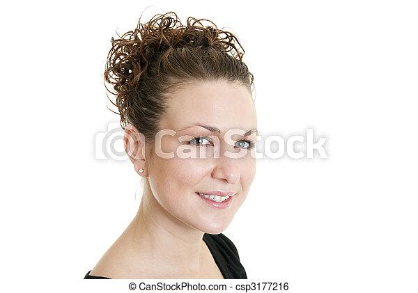 Friendly woman - csp3177216