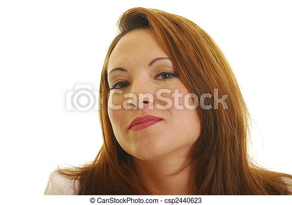 Friendly woman - csp2440623