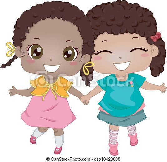 friends, am besten, african-american - csp10423038
