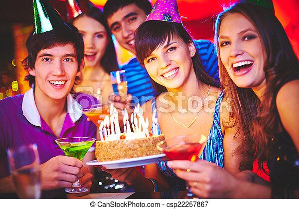 Friends celebrating birthday - csp22257867