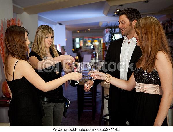 Friends celebrating important event - csp5271145