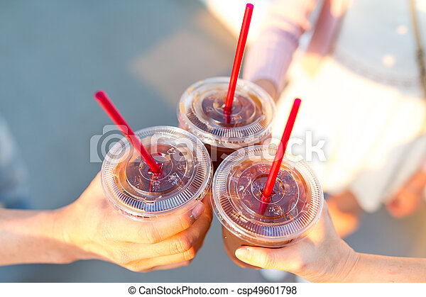 Friends drink coffee together - csp49601798