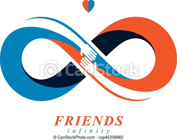 Best Friend Forever With Timeline Concept Flat Human Logo