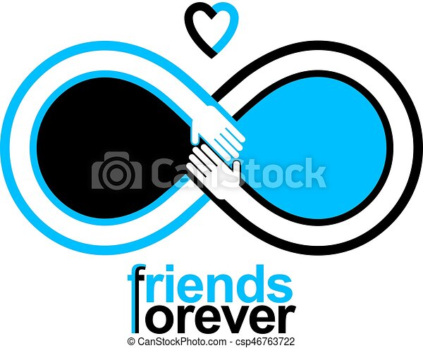 Friends Forever Everlasting Friendship Unusual Vector Logo Combined