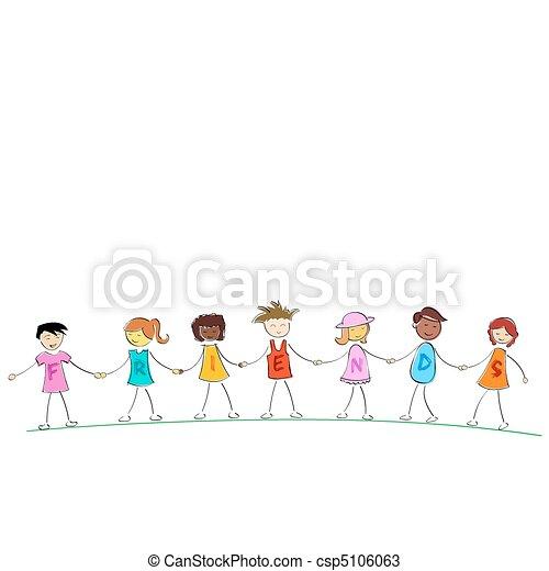 friends holding hands - csp5106063