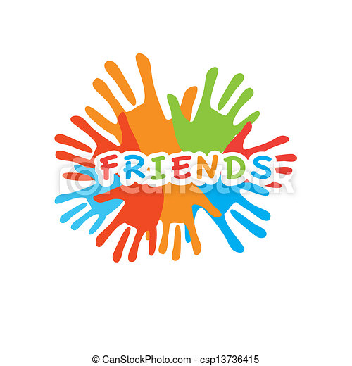 Friends Palm Unity Sign Of Friends Vector Symbol Of Friendship