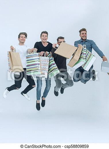 friends, shopping., gruppe, tanzen - csp58809859