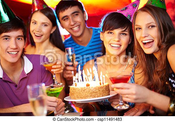 Friends toasting - csp11491483