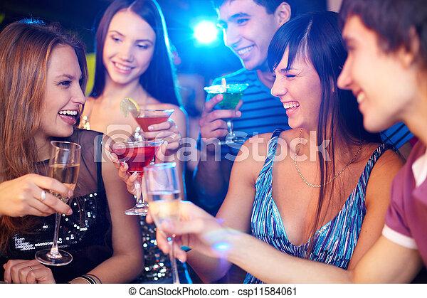 Friends toasting - csp11584061