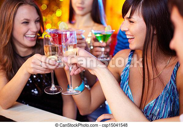 Friends toasting - csp15041548