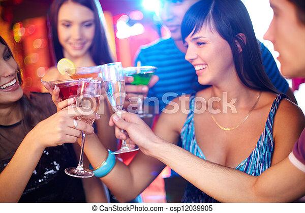 Friends toasting - csp12039905