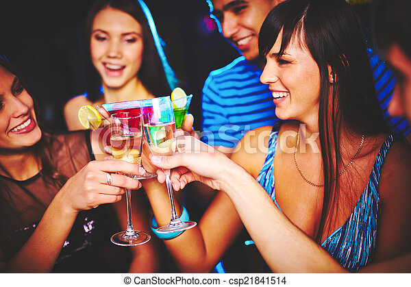Friends with champagne - csp21841514