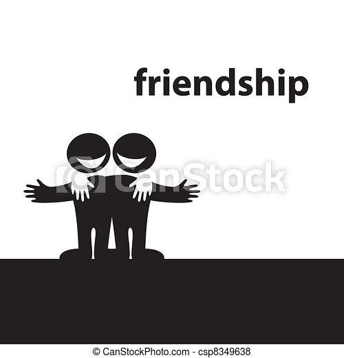Symbol Of Friendship Best Friends Vector Illustration