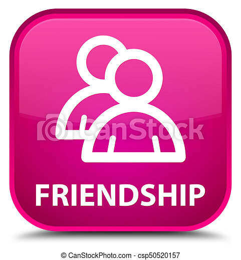 Friendship (group icon) special pink square button - csp50520157