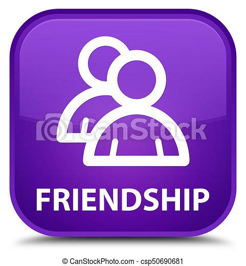 Friendship (group icon) special purple square button - csp50690681