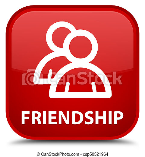 Friendship (group icon) special red square button - csp50521964