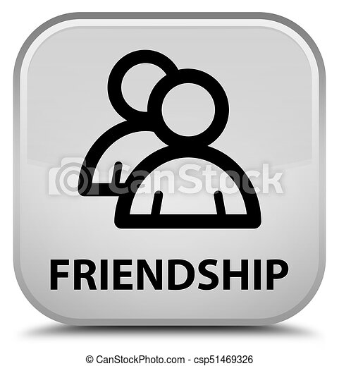 Friendship (group icon) special white square button - csp51469326