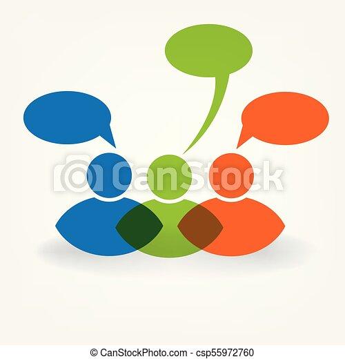 Friendship people talking logo