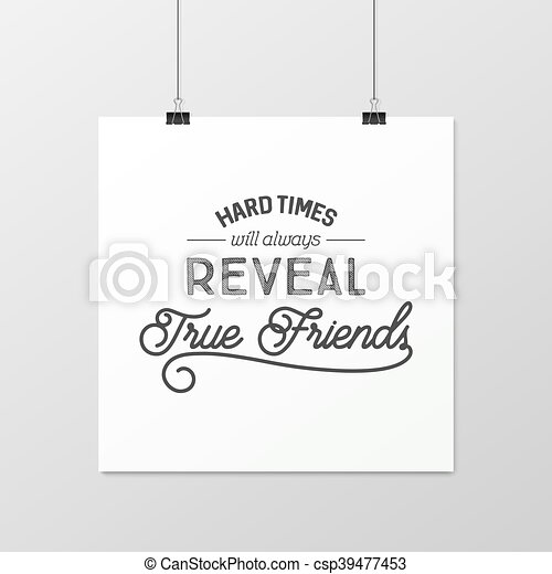 Friendship quote. Typographical Poster. - csp39477453