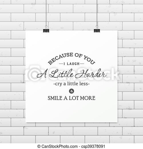 Friendship quote. Typographical Poster. - csp39378091