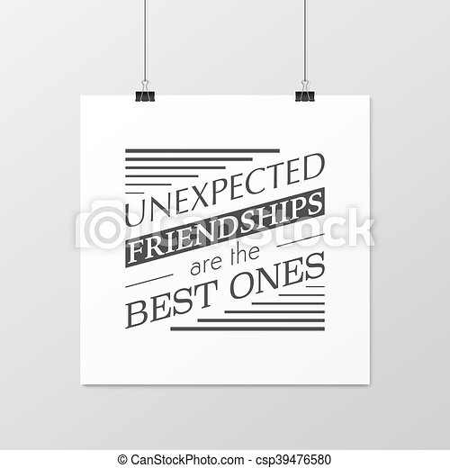Friendship quote. Typographical Poster. - csp39476580