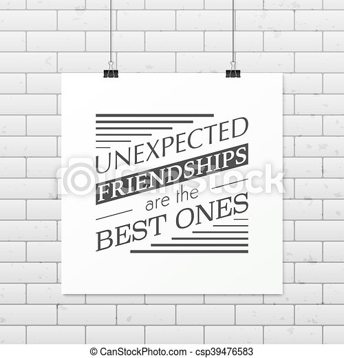 Friendship quote. Typographical Poster. - csp39476583