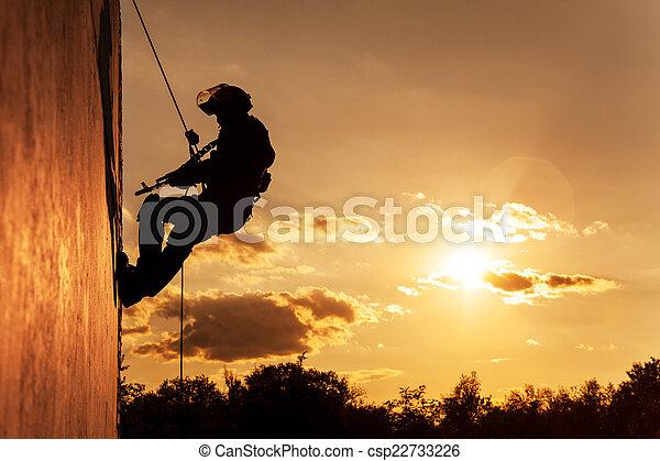 FRIES combat rappeling - csp22733226