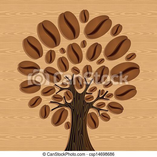 El árbol de los granos de café - csp14698686