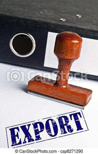 frimærke, eksporter - csp8271290