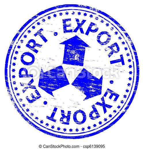 frimærke, eksporter - csp6139095