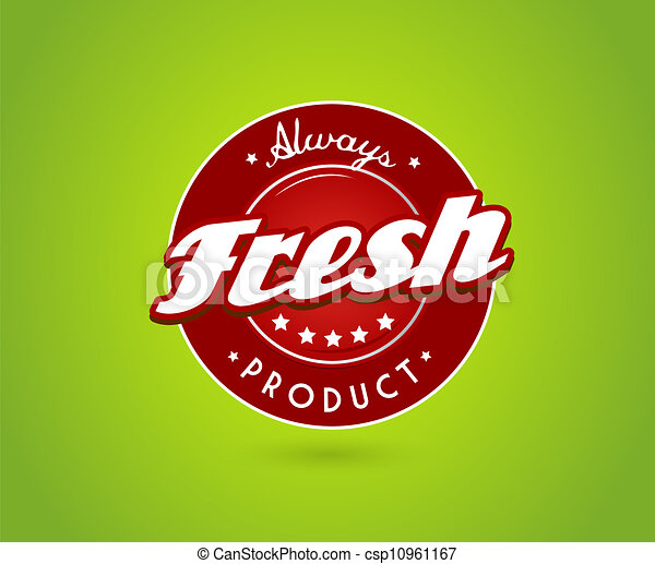 fris, product, groene, teken., plank - csp10961167