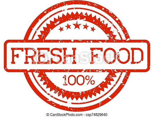 fris, rubberstempel, voedingsmiddelen - csp74829640