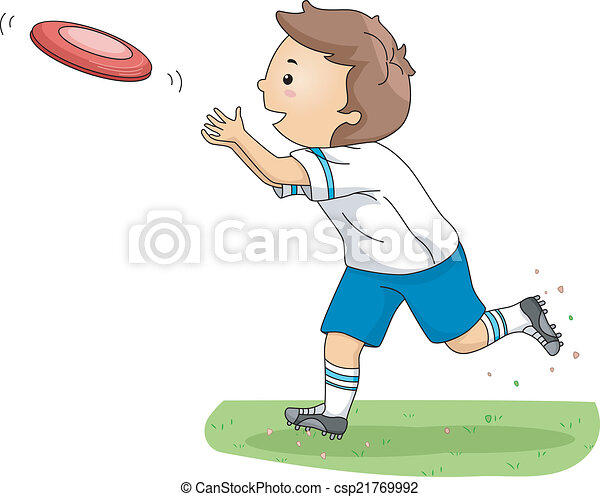 Frisbee Boy - csp21769992