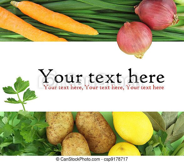 Hintergrund von frischem Gemüse - csp9178717