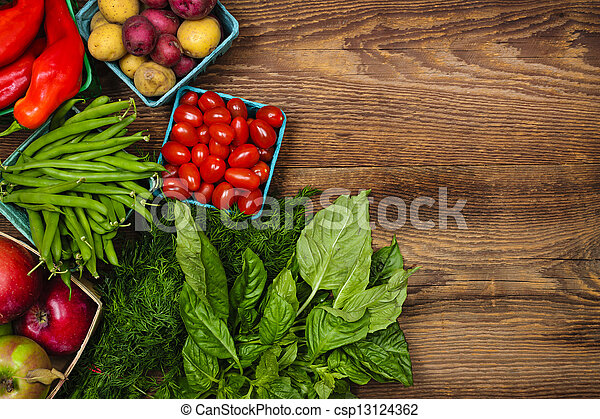frische gemüse, markt, früchte - csp13124362