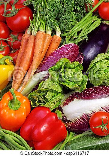 frisk, sortiment, grønsager - csp6116717