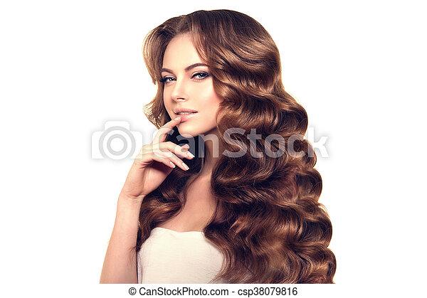 Frisur Hair Locken Langer Wellen Verlust Haircut Mode