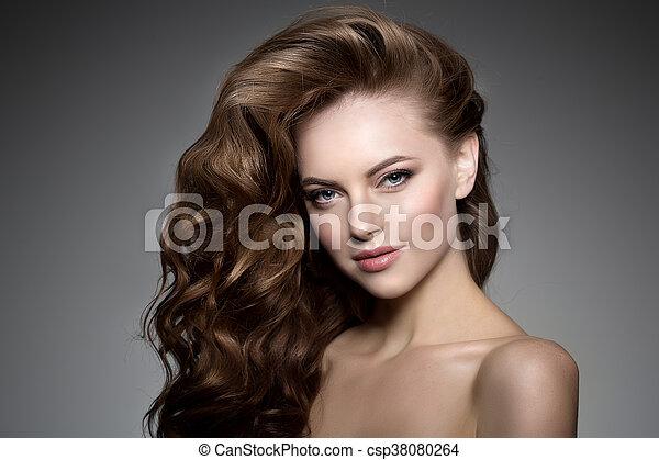 Frisur Hair Locken Langer Wellen Modell