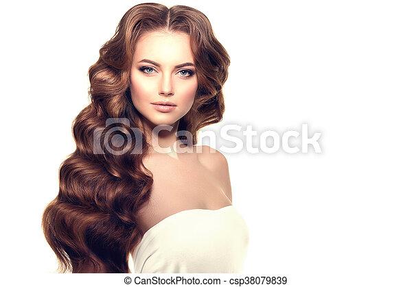 Frisur Hair Locken Langer Wellen