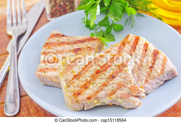 Carne frita - csp15118564