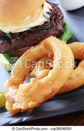 fritto, anelli, cipolla - csp36548091
