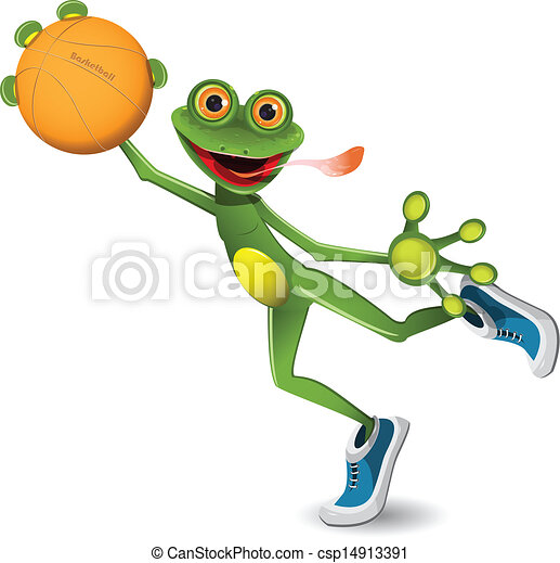 frog basketball - csp14913391