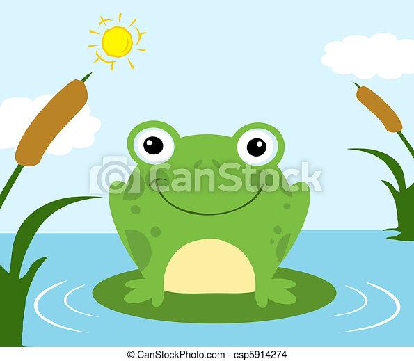 Frog Cartoon Character  - csp5914274