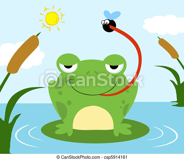 Frog Catching Fly - csp5914161