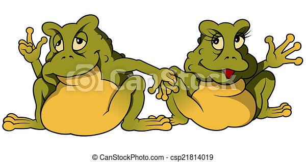 Frog Couple - csp21814019